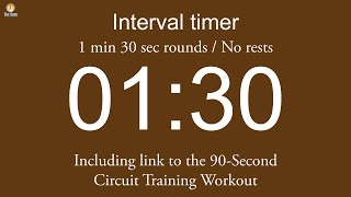 Interval timer - 1 min 30 sec rounds / No rests (with link to …