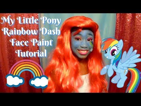 My Little Pony Rainbow Dash Make-Up Tutorial - DIY Darie