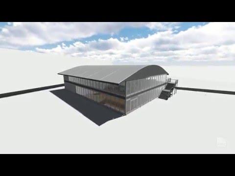 3D visualization for a sport event - VIP doubledecker structure