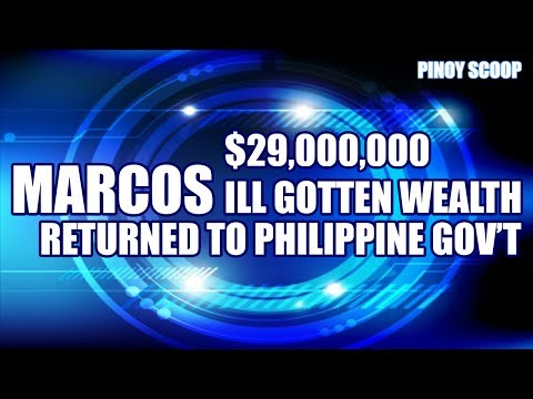 $29 Million From Marcos' Swiss Bank Accounts Returned To The Philippines