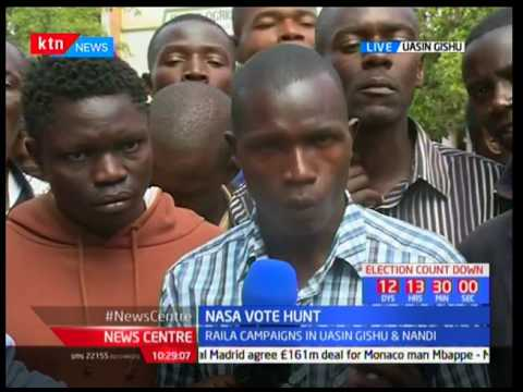Uasin Gishu residents on NASA's campaign tour in the county