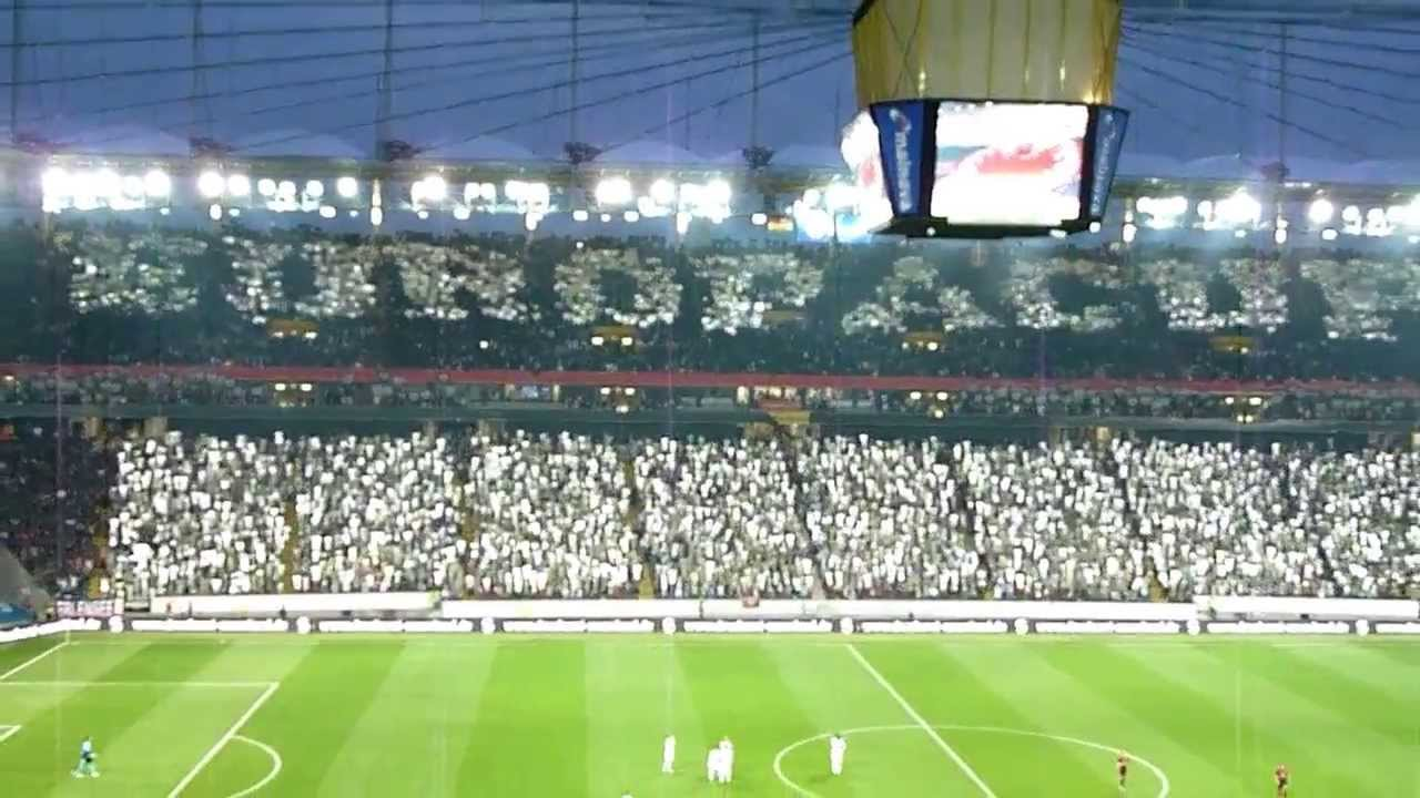 Choreo Eintracht Frankfurt vs FK Quarabag Agdam - YouTube