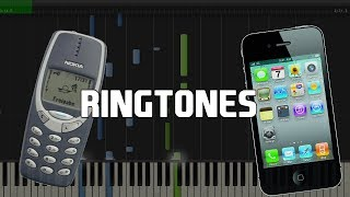 Phone Ringtones in Synthesia (Piano Tutorial)