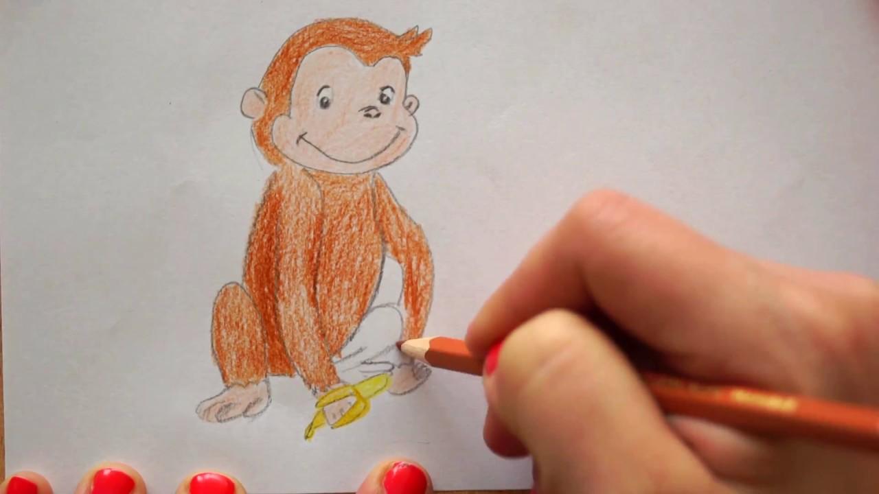 🐒 Coco Affe zeichnen mit Banane - how to draw monkey Coco - рисуем  обезьяну Kоко