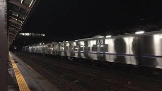 DF200+キハ261系1000番台8両甲種輸送 17:54登別駅通過 2019.12.2