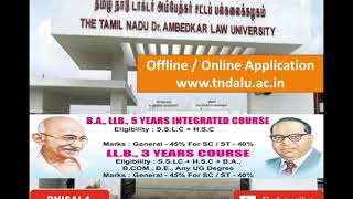 AFTER PLUS 2 | BA, LLB COURSES ADMISSION | TNDALU 2018 | தமிழ்