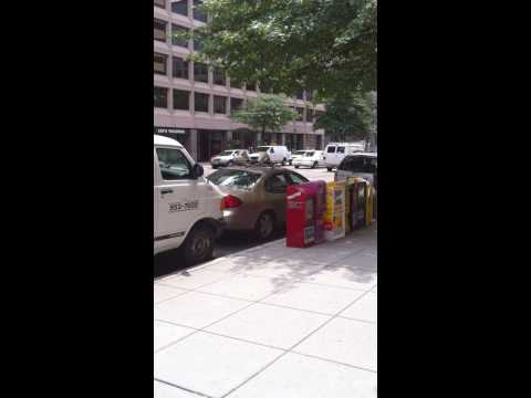 Crazy guy in front of the Washington Post building