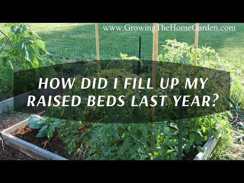 Filling my Raised Bed Vegetable Garden with Wood Chips the Results!