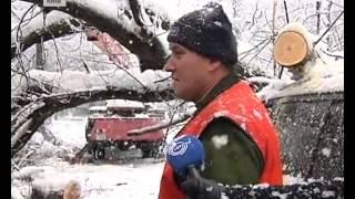 События: Киев накрыло мокрым снегом