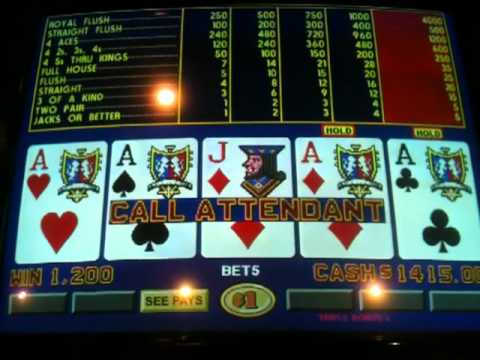 4 X Aces on triple bonus video poker