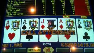 4 X Aces on triple bonus video poker
