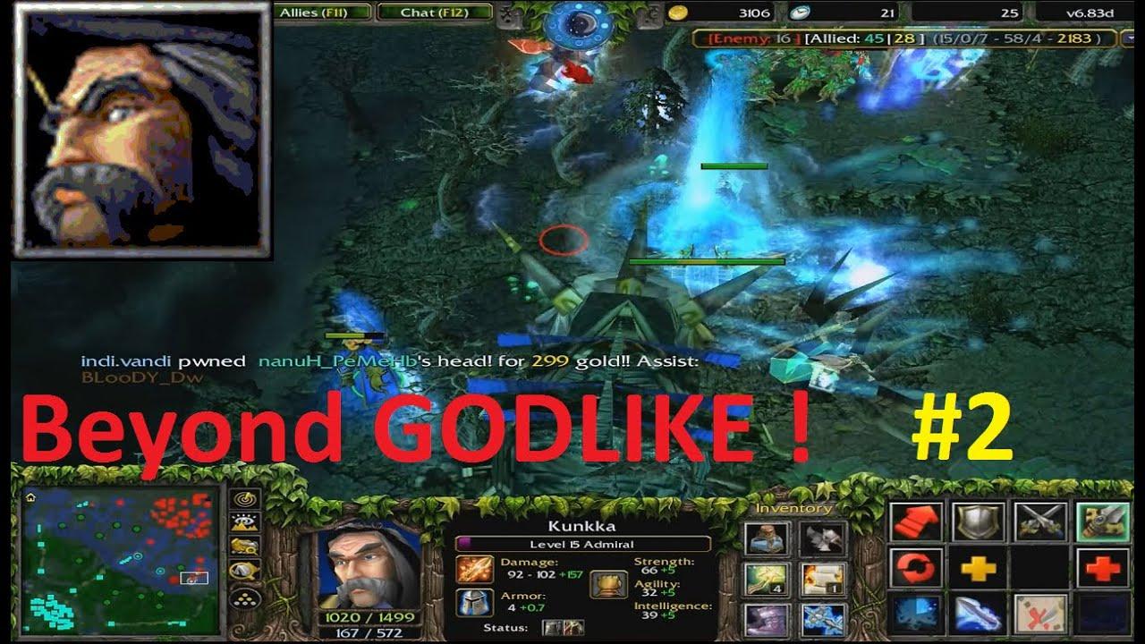 DotA 6.83d - Admiral, Kunkka Beyond GODLIKE ! #2 - YouTube