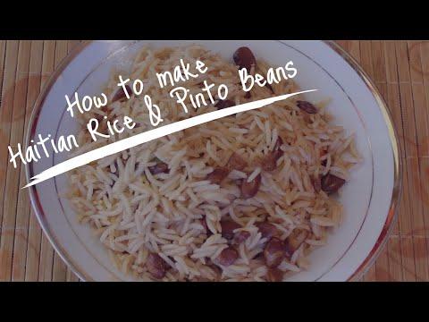 Haitian Recipes: Haitian Rice and Beans (Pinto Beans) | Diri Kole ak Pwa