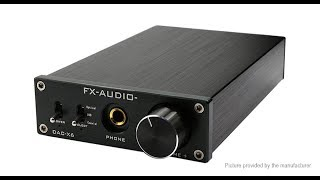 FX Audio DAC-X6 24BIT 192 Optical Coaxial USB Digital Audio