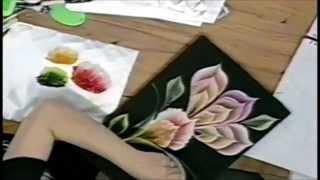 ONE STROKE - EXOTIC TROPICAL FLOWER: Luz Angela´s Technique