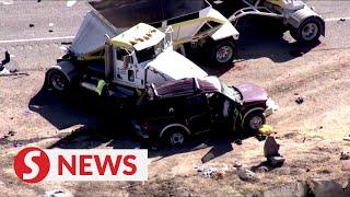Truck slams SUV near US-Mexico border, at least 13 dead