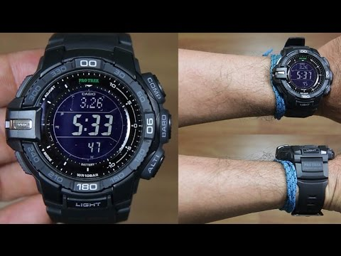 b197f7853 CASIO PROTREK PRG-270-1A FULL BLACK - UNBOXING - YouTube