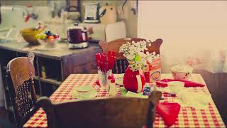 Cozy Kitchen Ambience, Cooking, Boiling Water, Knife Cutting, TV Muffled, Dish, Cup, Gas Stove Sound