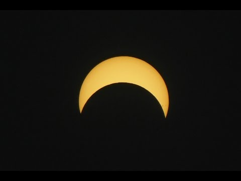Time-lapse of Partial Solar Eclipse, Mutare, Zimbabwe