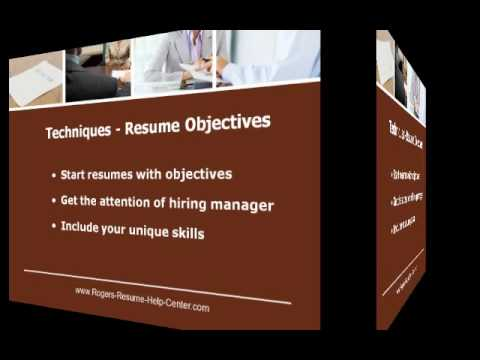 Resume Objective - Getting Started