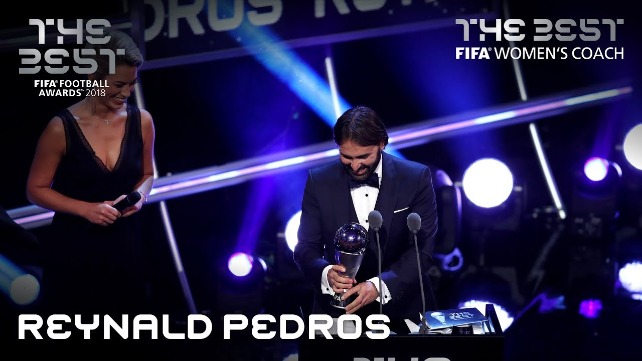 Reynald Pedros reaction - The Best FIFA Women's Coach 2018