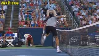 WATCH :Raonic Cheated Del Potro in Rogers Cup 2013 Over Net Collision in Montreal