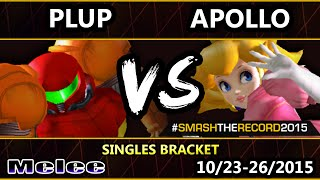 STR2015 - PG | Plup (Samus) Vs. Apollo (Peach) - SSBM Top 64  Smash Melee