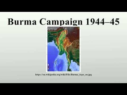 Burma Campaign 1944–45
