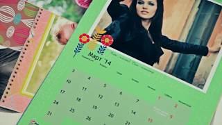 видео Печать настольных перекидных календарей