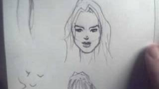 How to draw small faces on paper