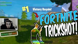 CRAZY Fortnite Sniper Trickshot WIN!