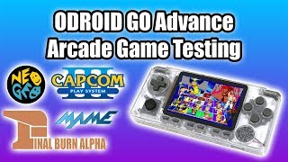 ODROID GO Advance Arcade Game Testing - CPS3 MAME NEOGEO FINAL BURN ALPHA