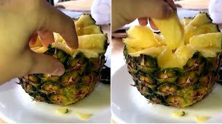 Is this the riġht way to eat pineapple?