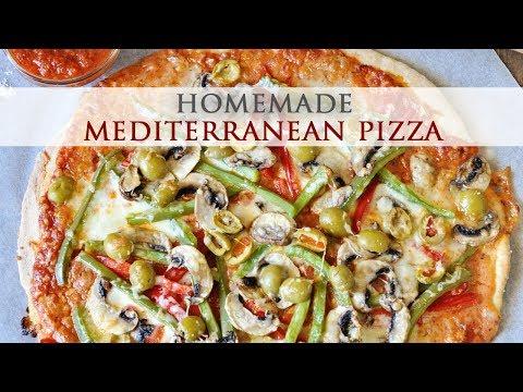 30 Minute Homemade Mediterranean Pizza