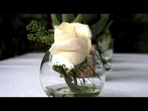 Blumendeko Im Weinglas