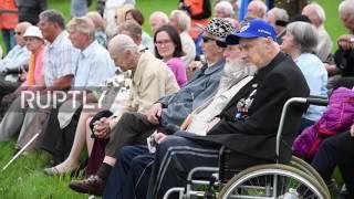 Estonia: Waffen-SS Veterans Commemorate 73 Anniv. Of Battle Of Tannenberg Line