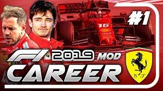 F1 2019 Mod CAREER MODE Part 1: Australia | Ferrari