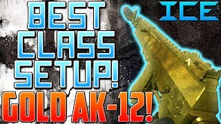 Call of Duty Ghosts: GOLD AK-12 Best Class Setup! (Ghosts Multiplayer Gameplay)
