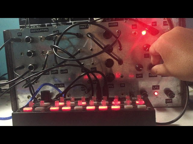 Raw and dirty sequencing of my DIY Modular Synth