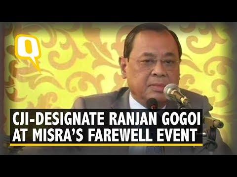 CJI-Designate Justice Ranjan Gogoi Addresses Media on Justice Dipak Misra Last Day as CJI