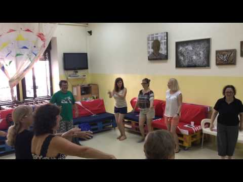 Group dance activity in Drama Course in Croatia.