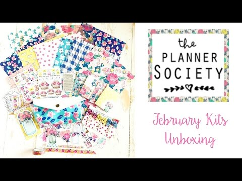 The Planner Society   February Unboxing