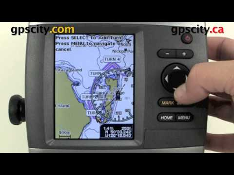 Garmin GPSMap 4XX Video Manual - Placing a Route using the Map