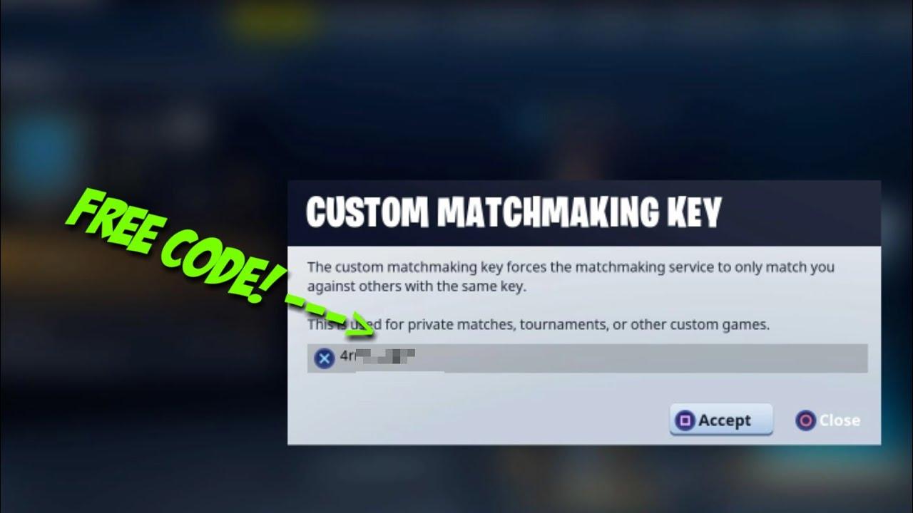 (Fortnite Battle Royale) How To Get Custom MatchMaking ...