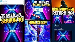 *NEW* Fortnite: SEASON 10 TEASER #3! *Drift/Dark Voyager Return* China Leaks Battlepass Skin & More!