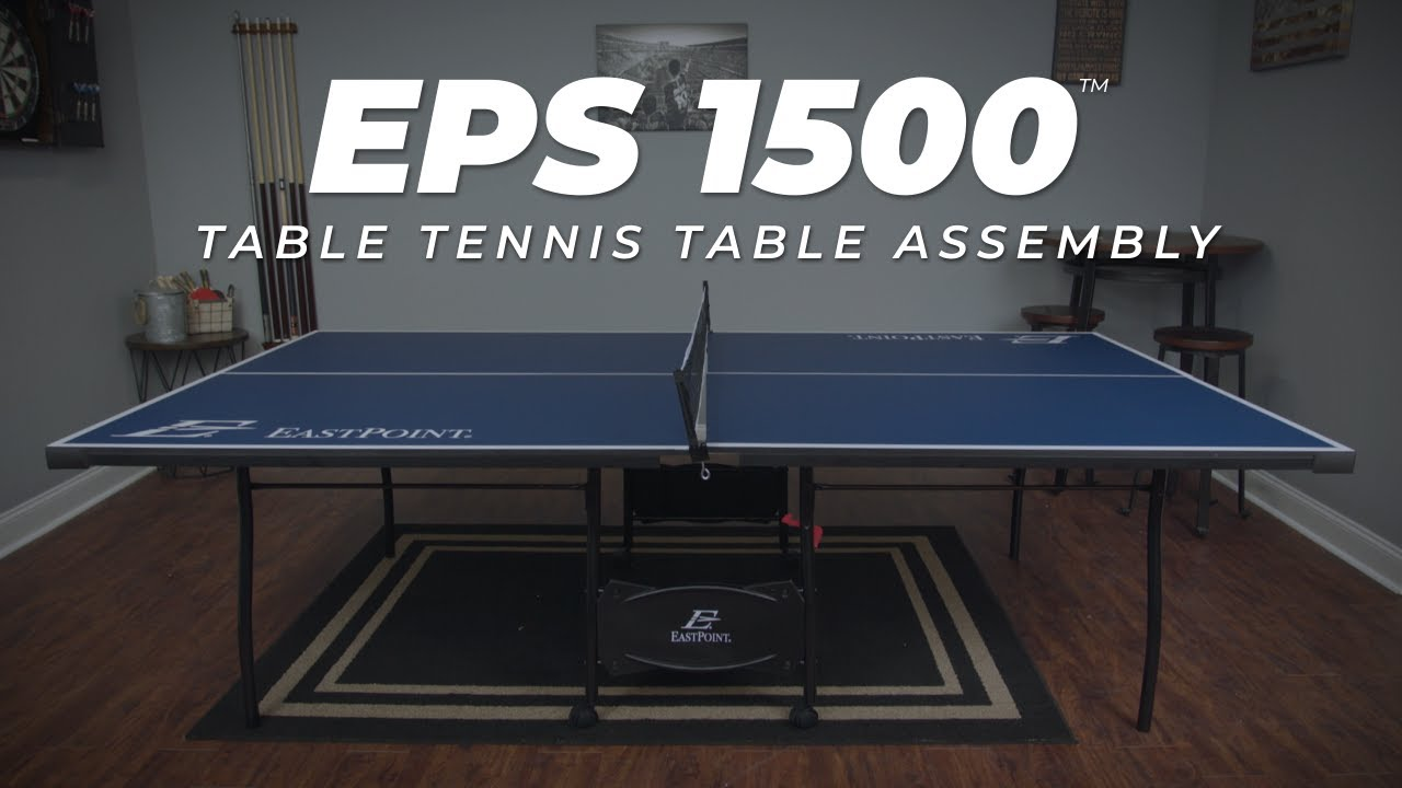 Eps 1500 Table Tennis Table Assembly Video