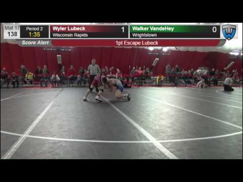 138 Wyler Lubeck Wisconsin Rapids vs Walker VandeHey Wrightstown 6476840104