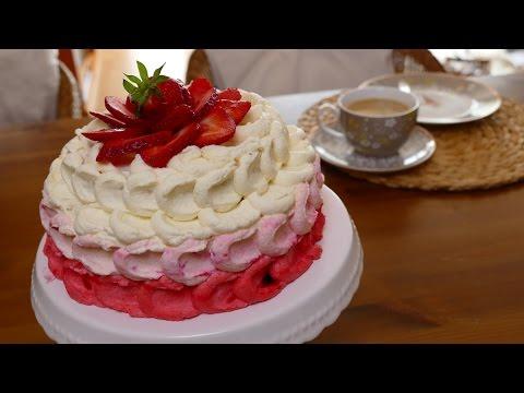 Erdbeer Sahne Torte Mit Schwips Von Nicoles Zuckerwerk Youtube