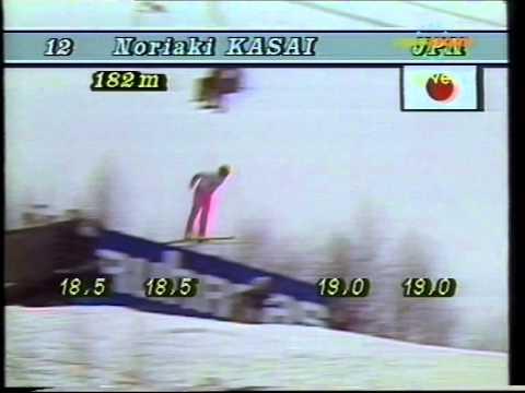 Noriaki Kasai - 1991/1992 - SFWCH Harrachov - 2nd jump - 182 m