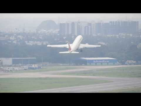 Unitop Airlines Airbus A300 cargo plane takes off from Chennai Airport